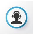 male operator icon symbol premium quality vector image
