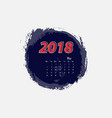 may 2018 calendar templates vector image