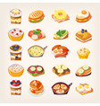 meals and dishes for healthy breakfast vector image vector image
