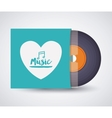 music record design vector image vector image