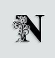 n letter black flower alphabet beautiful capital