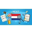 nexit netherland exit from europe organization vector image