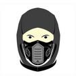 ninja logo vector image
