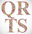 ornate alphabet letters q r s t