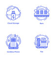 pack technology and hardware line icons vector image vector image