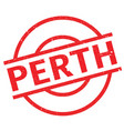 perth rubber stamp vector image vector image