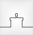podium with microphone vector image vector image