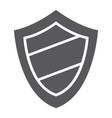 protection glyph icon guard and safety shield vector image vector image