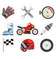 race sport championship motocross motorbike vector image