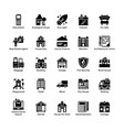 real estate glyph icons 6 vector image vector image
