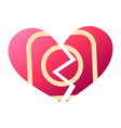 red heartbreak sign broken heart symbol of vector image