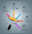 roller paint brush icon business infographics vector image vector image