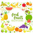 round frame with fruits vector image vector image