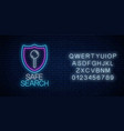 safe web search service glowing neon sign with vector image vector image