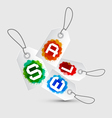 Sale Tags - Stickers with Rope and Colorful vector image vector image