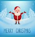 santa claus standing in snow vector image vector image