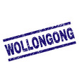 scratched textured wollongong stamp seal vector image vector image
