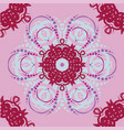 seamless abstract floral patternmandala vector image vector image