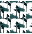 seamless pattern with forest landscape vector image vector image