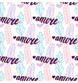 seamless pattern with lettering italian word vector image