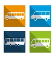 set bus types icons isolated design vector image vector image