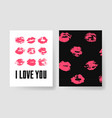 set of templates for romantic cards hand drawn vector image vector image
