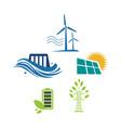 set sign elements alternative renewable energy vector image vector image