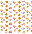 shopping icons seamless pattern international vector image vector image