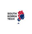 south korea low poly tech logo icon vector image
