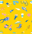summer beach tropical party icons seamless travel vector image vector image