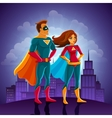 super heroes couple vector image vector image