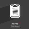 Text file icon symbol Flat modern web design with vector image