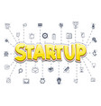 the concept of a startup icons business themes - vector image vector image