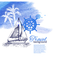 Travel tropical design vector image
