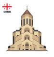 tsmind sameba cathedral georgia tbilisi vector image