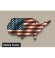 United States flag on vintage background vector image