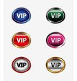 VIP icon button isolated set vector image vector image