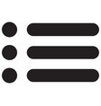 web site menu icon vector image vector image
