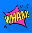wham icon pop art style vector image vector image