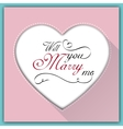 Will you marry me calligraphy card vector image vector image