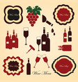 wine labels collection vector image vector image