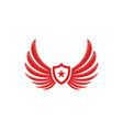 wing falcon logo template vector image vector image