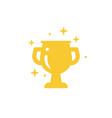 winner cup trophy prize symbol web icon logo vector image