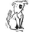 Woodcut Spot Dog vector image vector image