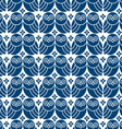 Retro seamless pattern with owls vector image