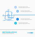 algorithm business foretelling pattern plan vector image vector image