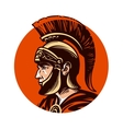 Ancient warrior in helmet symbol vector image vector image