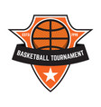 basketball sport emblems design element for vector image vector image