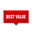 best value red tag vector image vector image
