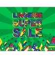 Big winter sale poster with LINGERIE SUPER SALE